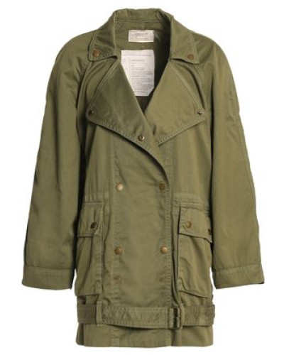 Cotton-twill Jacket Army Green