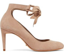 Cibiana lace-up suede pumps