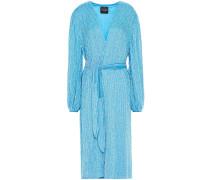 Audrey Velvet-trimmed Sequined Chiffon Wrap Dress