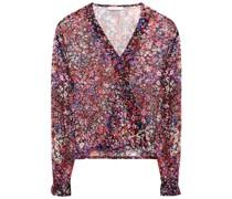 Lehane Bluse aus Seidenkrepon mit Floralem Print und Wickeleffekt