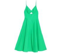 Cutout Cotton-poplin Dress
