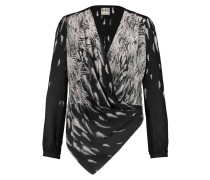 Printed Silk Crepe De Chine Blouse Schiefer