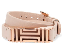 + Fitbit Fret Leather Wrap Bracelet Pastellrosa