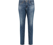 Beau Mid-rise Slim-leg Jeans Mittelblauer Denim