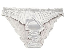 Lolita Ruffle-trimmed Stretch-satin Low-rise Briefs