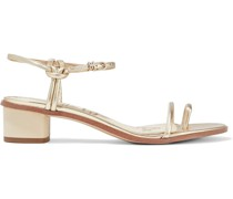 Isle Metallic Textured-leather Sandals