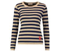 Irmine Striped Cotton Sweater Mitternachtsblau