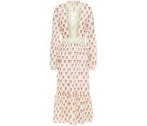 Deliah Floral-print Cotton-voile Midi Dress