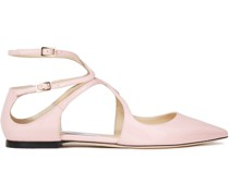 Lancer Cutout Patent-leather Point-toe Flats