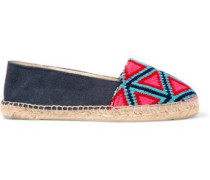 Suede and canvas espadrilles