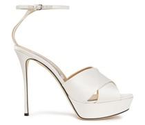 Satin-crepe Platform Sandals