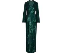Embellished Chiffon Wrap Gown