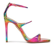 Holographic Faux Leather Sandals