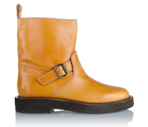 Leather Ankle Boots Safrangelb