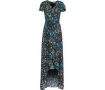 Floral-print cady maxi dress