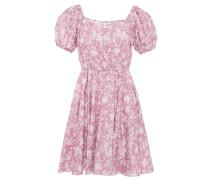 Bardot Floral-print Stretch-cotton Poplin Mini Dress