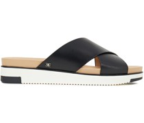 Audrea Leather Platform Slides