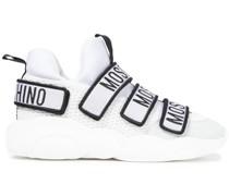 High-top-sneakers aus Mesh und Scuba mit Velourslederbesatz