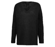Brushed wool-blend sweater