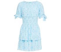 Camilla Bedrucktes Minikleid aus Webstoff mit Raffung