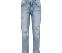 The Fling distressed mid-rise boyfriend jeans