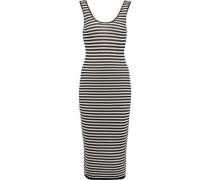 Janel striped crochet-knit midi dress