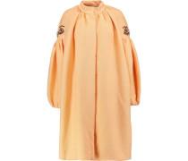 Crystal-embellished cloqué coat