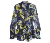 Liya ruffled floral-print silk-georgette blouse