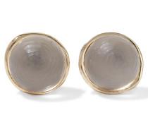 Gold-tone Lucite Earrings Grau