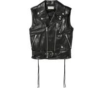 Leather Vest Schwarz