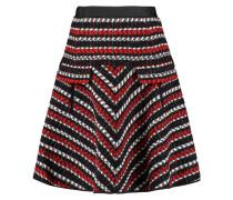 Wool And Cotton-blend Tweed Skirt Schwarz