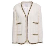 Adeline Metallic Crochet-trimmed Cotton-tweed Jacket