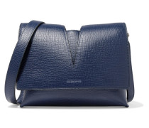 Cutout Leather Shoulder Bag Navy