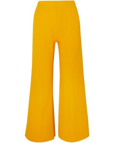 Cropped Knitted Wide-leg Pants Marigold