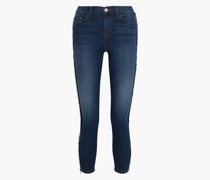 The Chained Stiletto Cropped Mid-rise Skinny Jeans