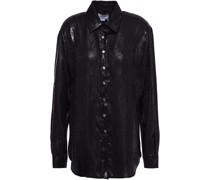 Hemd aus Jacquard aus Einer Seidenmischung mit Schlangenprint in Metallic-optik