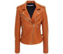 Newhan Washed-leather Biker Jacket