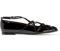 Claudia Ghillie patent-leather ballet flats