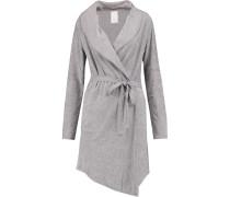 Cotton-blend Terry Jersey Robe Grau