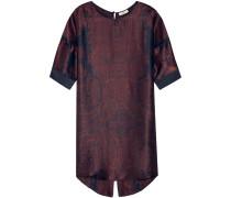 Day Tour Printed Silk-satin Mini Dress Burgunder