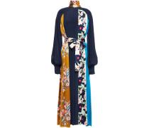 Afisa Floral-print Silk-satin And Crepe Midi Dress