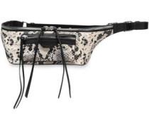 Snake-effect Leather Belt Bag Animal Print Size --