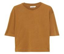 T-shirt aus Meliertem Stretch-jersey