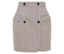 Houndstooth Jacquard Mini Skirt
