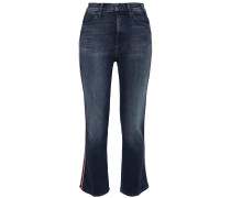 The Looker Lamé-trimmed High-rise Kick-flare Jeans