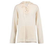 Apollo lace-up cotton-blend jersey hooded sweatshirt