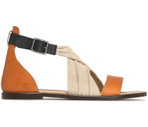 Suede And Leather Sandals