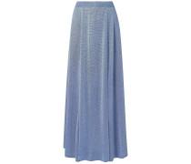 Metallic Knitted Maxi Skirt