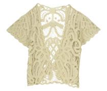 Crocheted Cotton Cardigan Creme