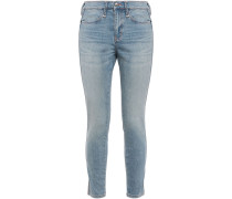 Woman The Braided Caballo Cropped Mid-rise Skinny Jeans Light Denim